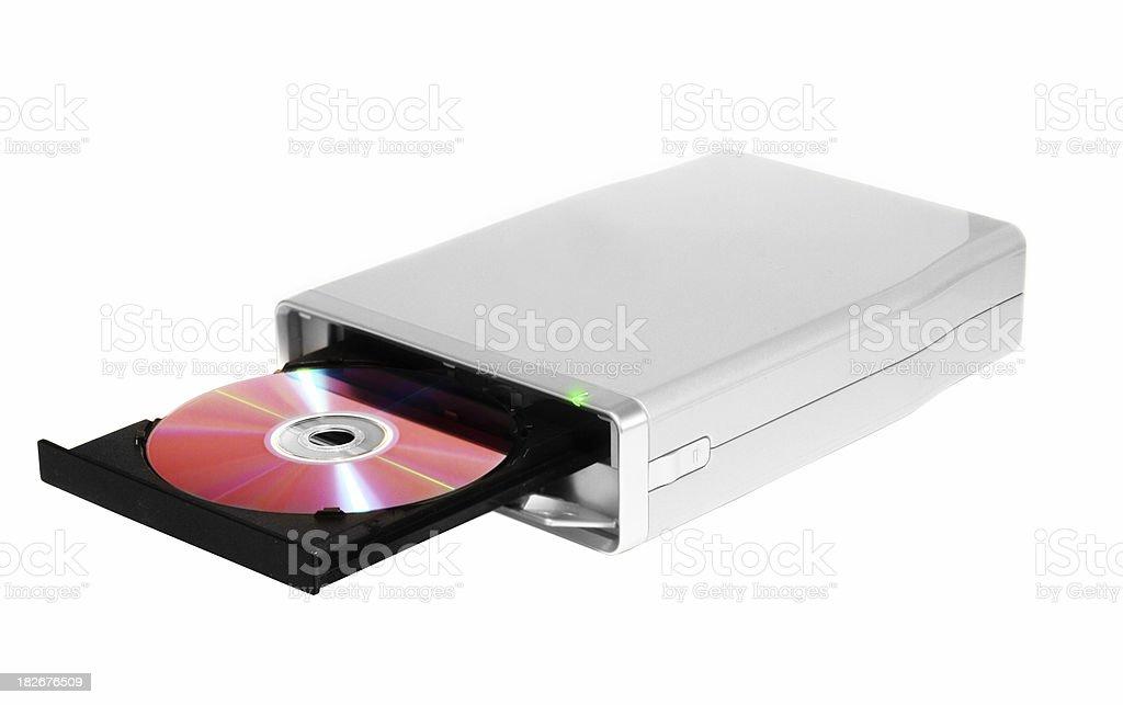 dvd - cd burner stock photo