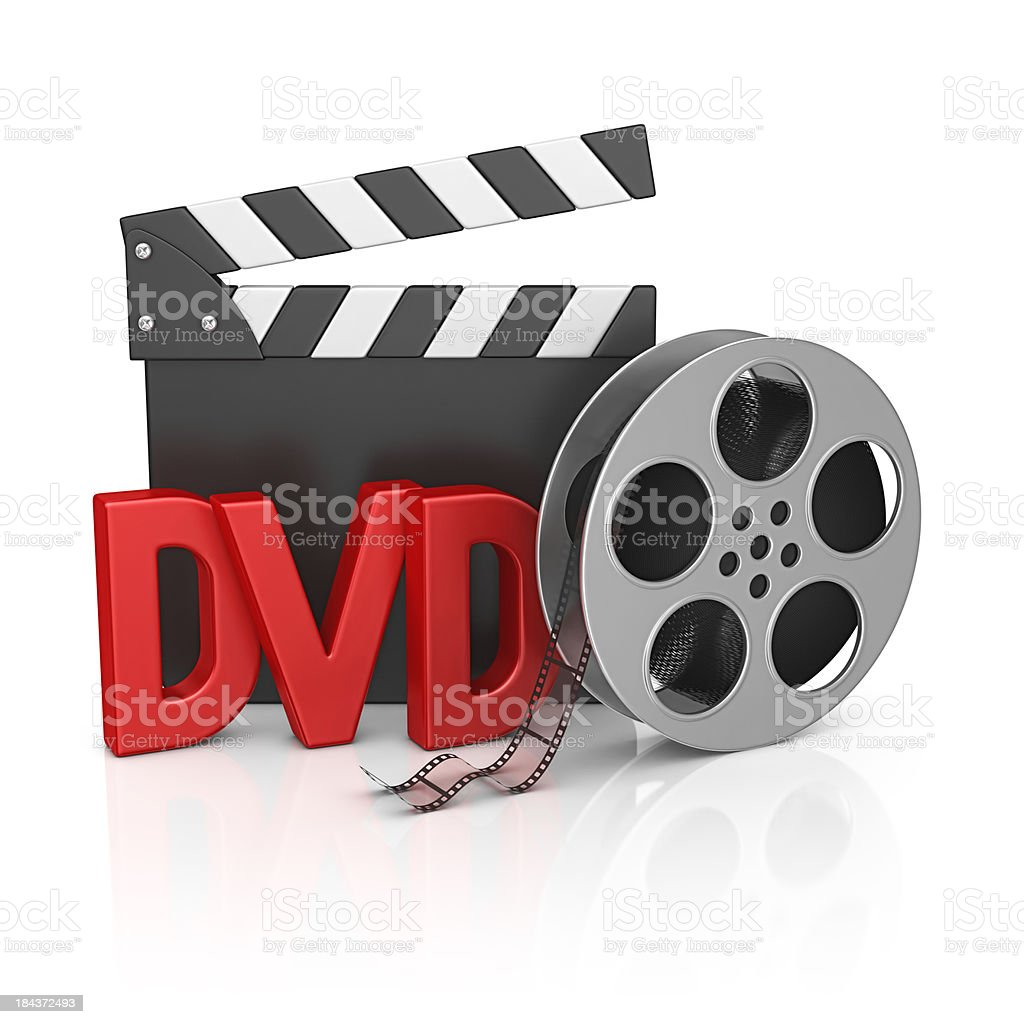 dvd film stuff stock photo