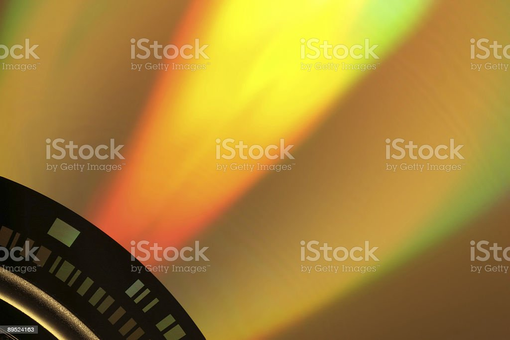 dvd in gold royalty-free stock photo
