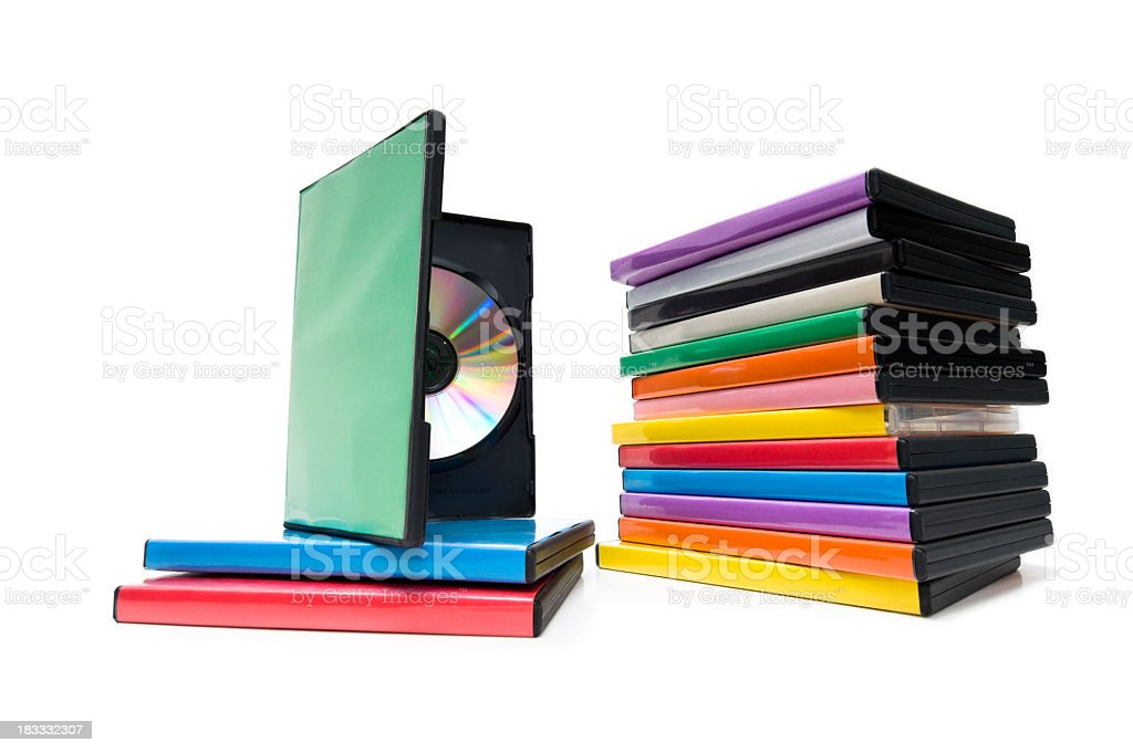 DVD/Blu Ray Movie Collection royalty-free stock photo