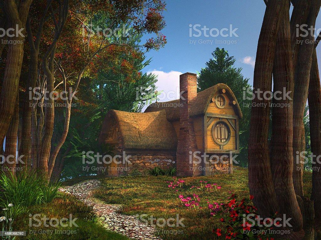 Dwarf house stock photo
