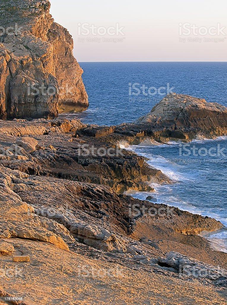 Dwejra Seascape royalty-free stock photo