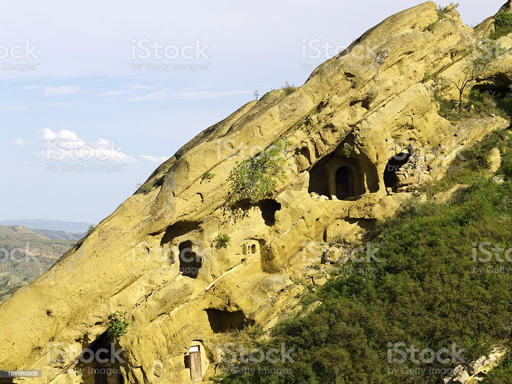 Dwelling caves stock photo