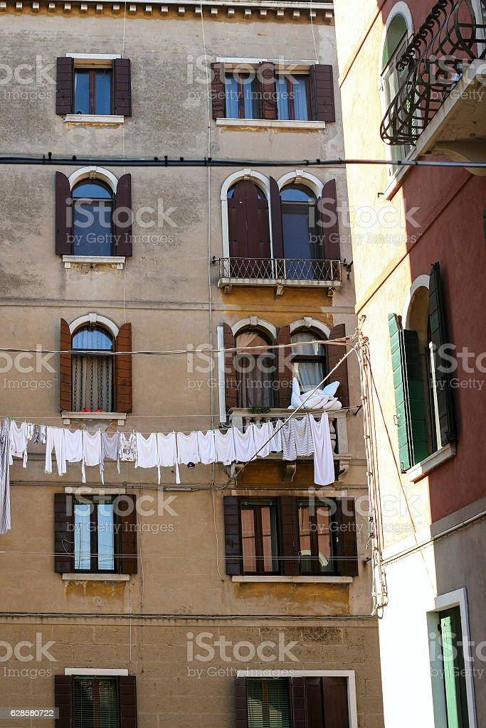 dwelling house in Cannaregio sestieri in Venice stock photo