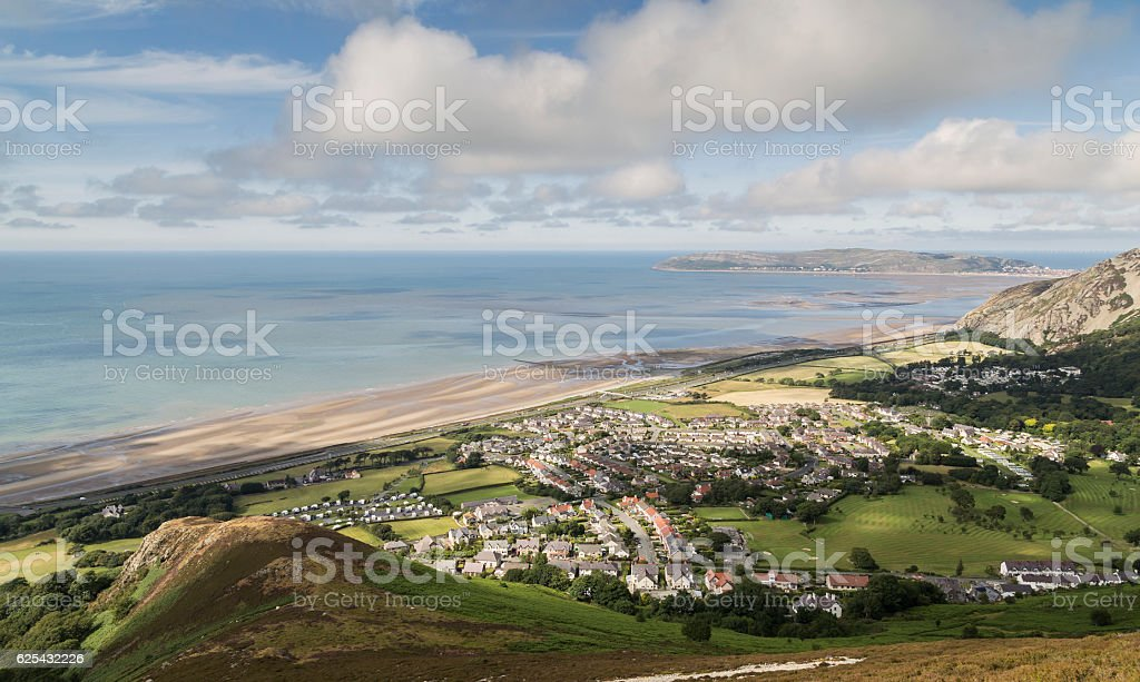 Dwygyfylchi Village stock photo
