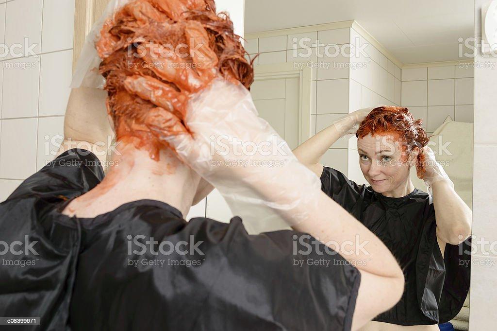 Dye your hair stock photo
