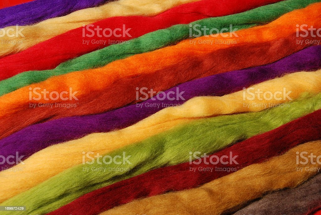 dyed new wool stock photo