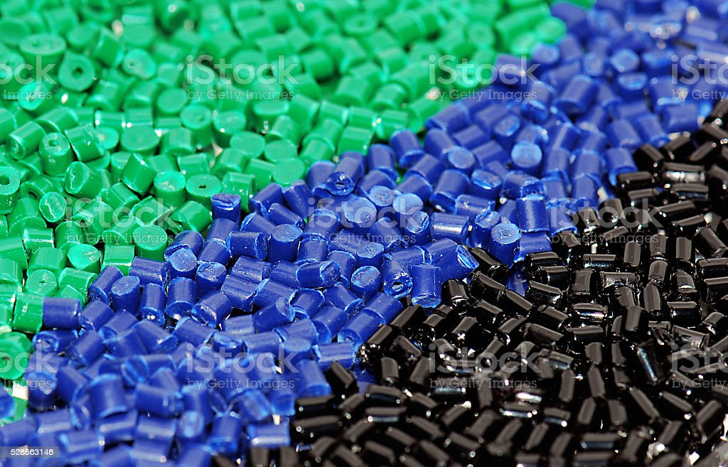 dyed polymer resin stock photo