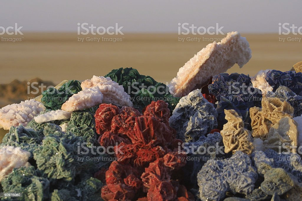 Dyed sand roses royalty-free stock photo