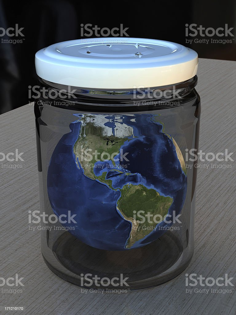 Dying Earth stock photo