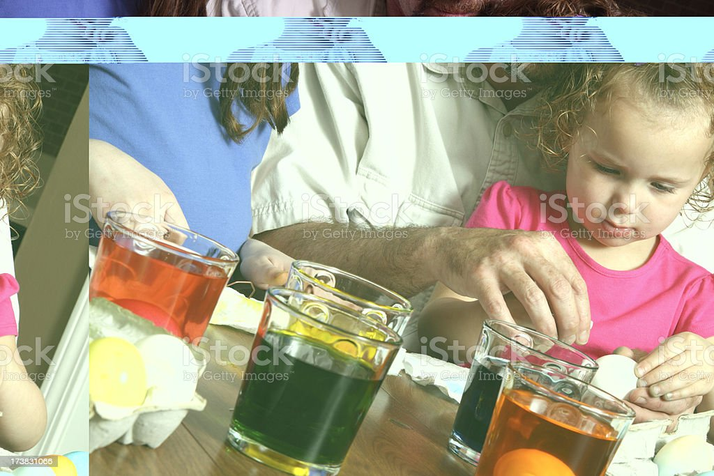 Dying Easter Eggs royalty-free stock photo