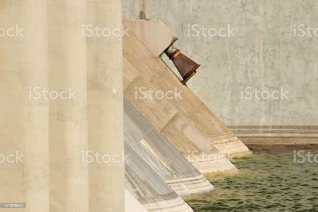 Dyke detail on the river Tidone royalty-free stock photo