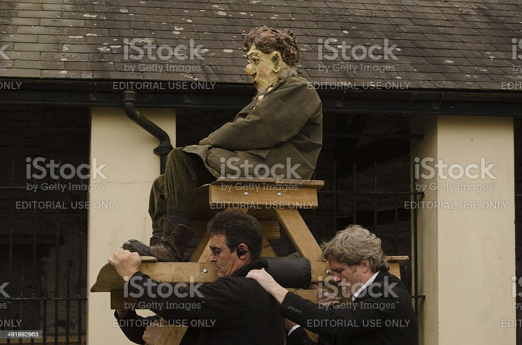 Dylan Thomas carried aloft royalty-free stock photo