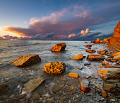 dynamic and romantic sunset over the Adriatic Sea