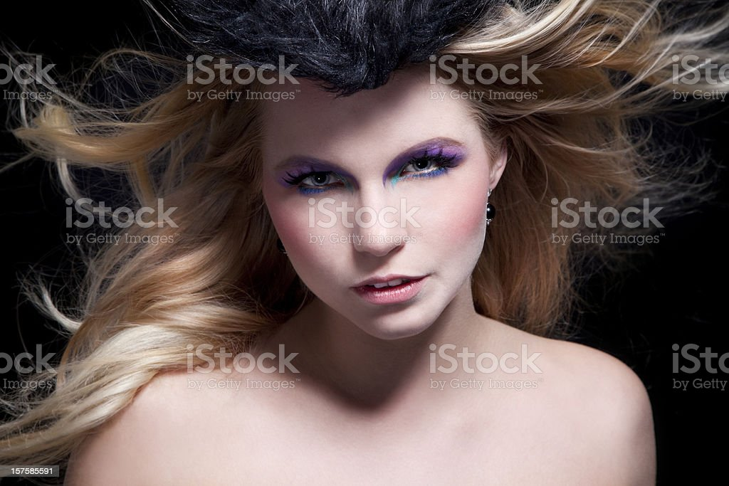 Dynamic beauty royalty-free stock photo
