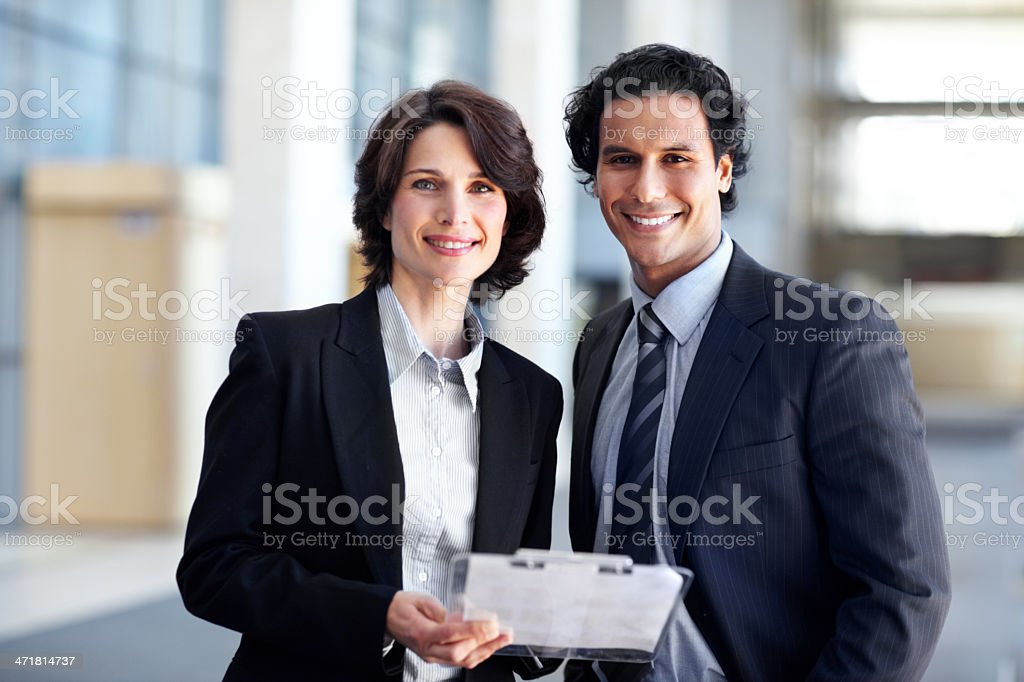 Dynamic business duo royalty-free stock photo