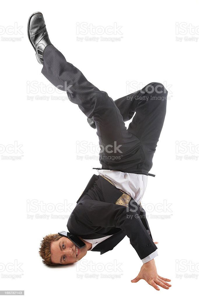 Dynamic Business Man stock photo