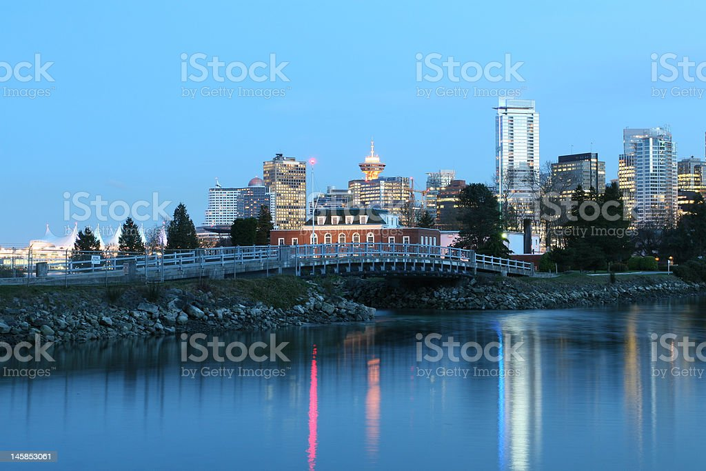 Dynamic City Core on Waterfront royalty-free stock photo