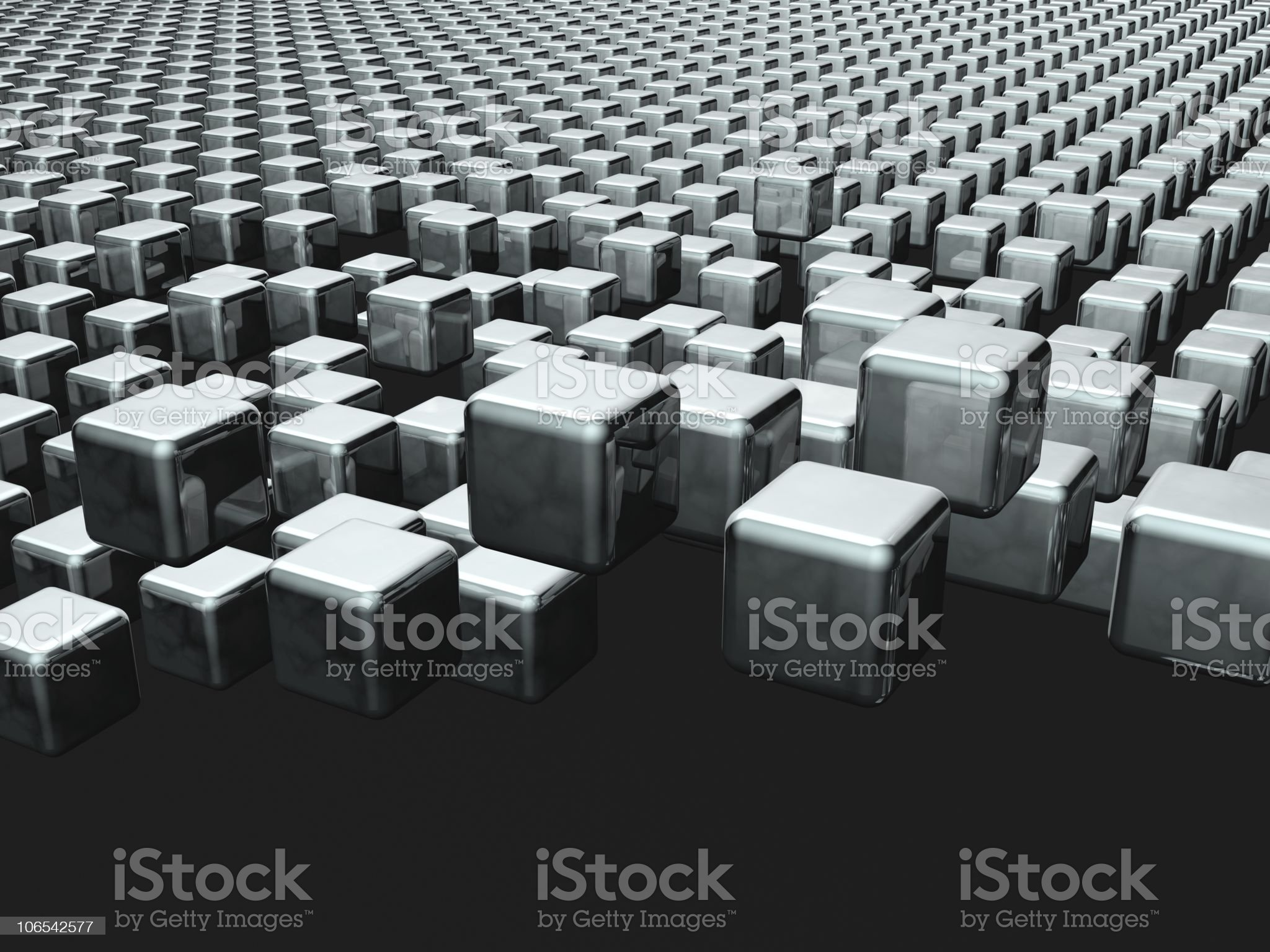 Dynamic cube floating background royalty-free stock vector art