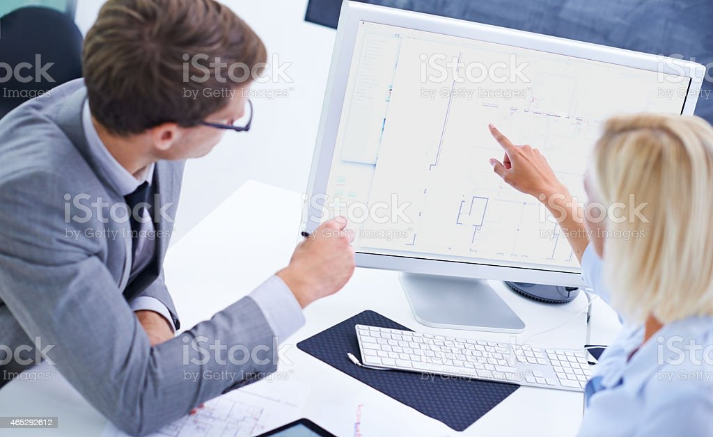 Dynamic design team stock photo