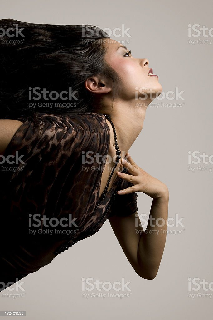 Dynamic fashion portrait royalty-free stock photo