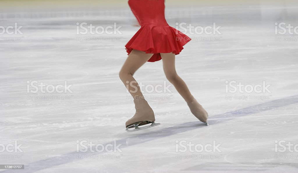 dynamic figure skating stock photo