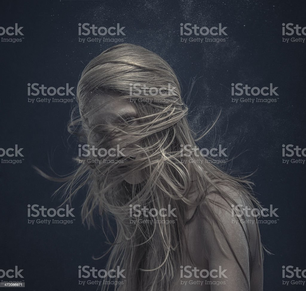 dynamic hairstyle stock photo