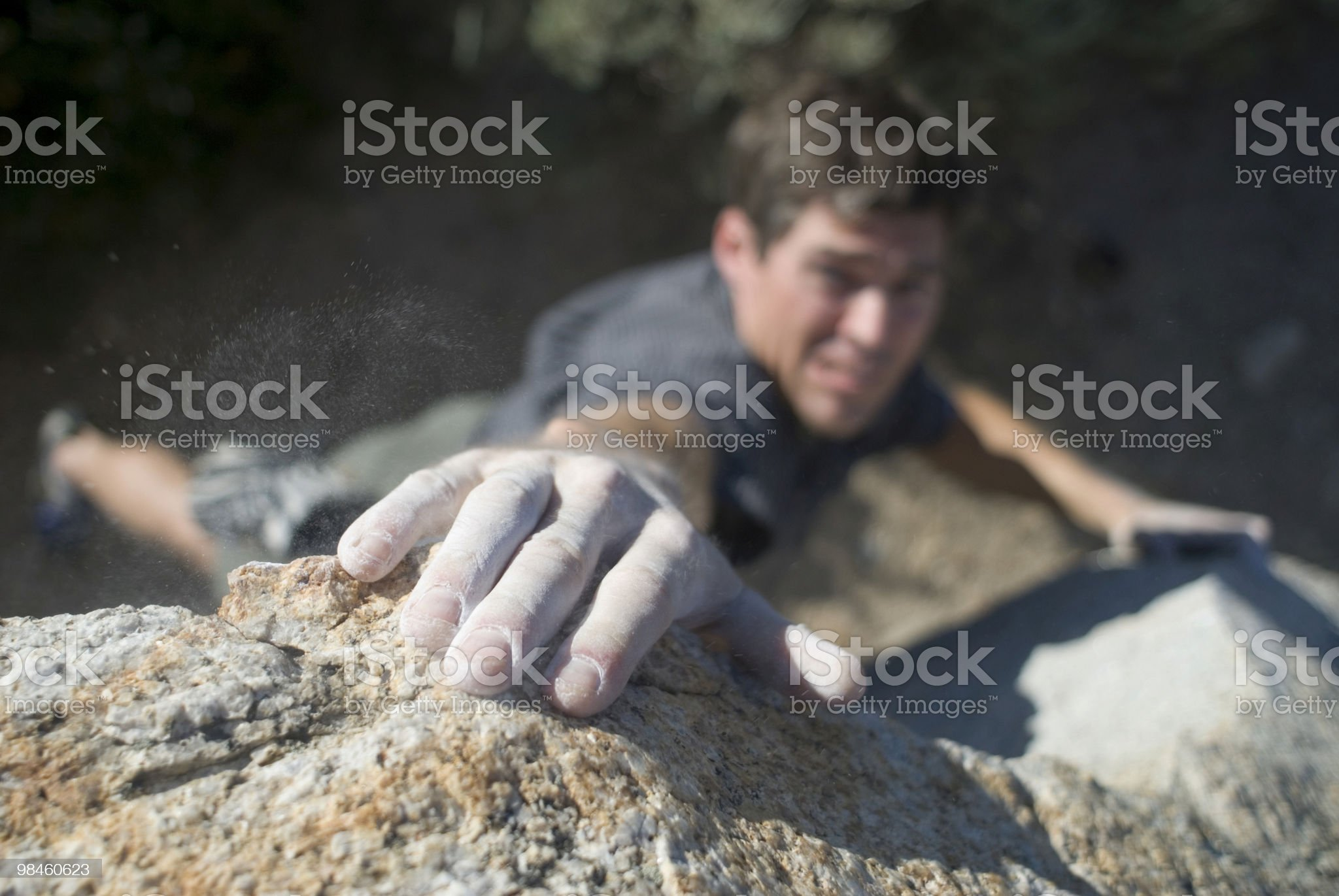 Dynamic lunge for next hold royalty-free stock photo