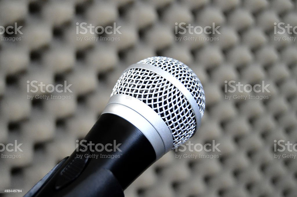 Dynamic Microphone on! stock photo