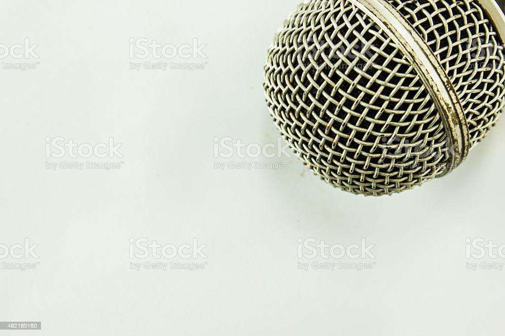 dynamic microphone stock photo