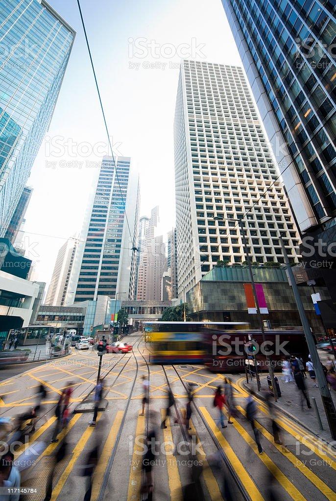 Dynamic modern city royalty-free stock photo