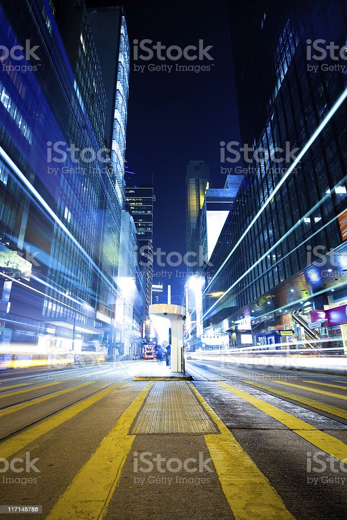 Dynamic modern city stock photo