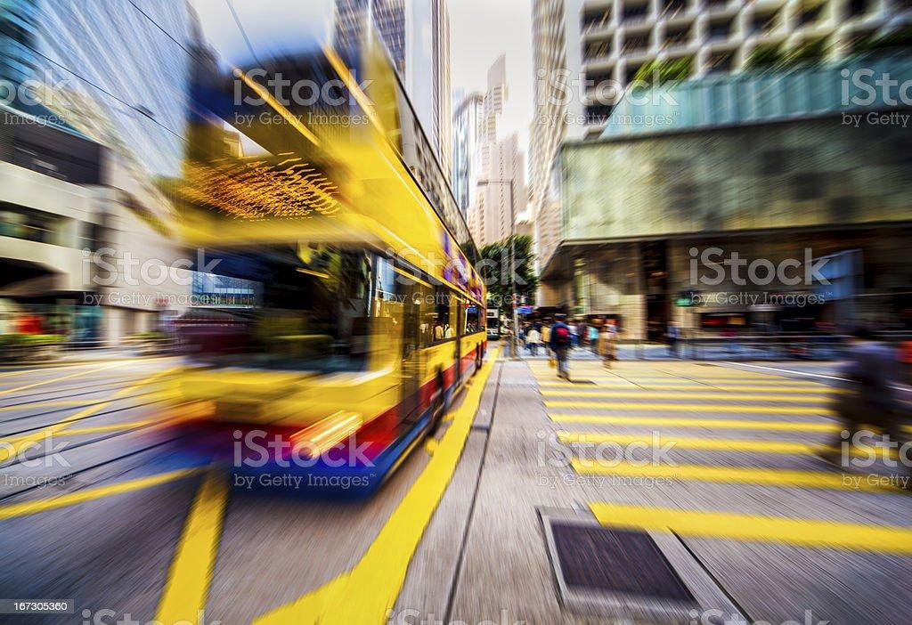 Urban modern city crossroad. Motion blur.