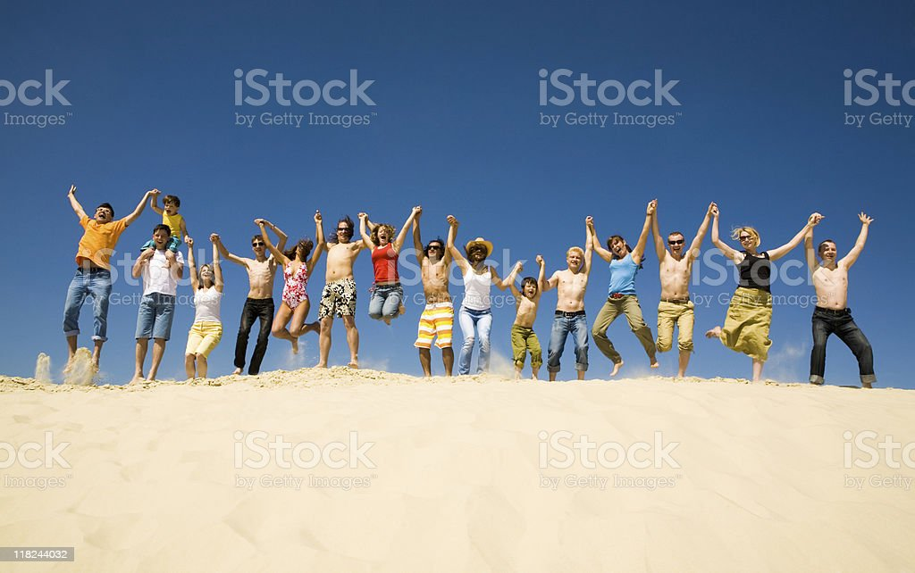 Dynamic people royalty-free stock photo