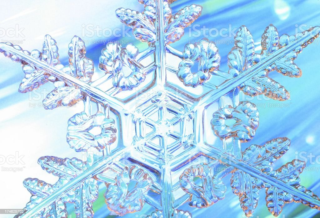 Dynamic Snowflake stock photo