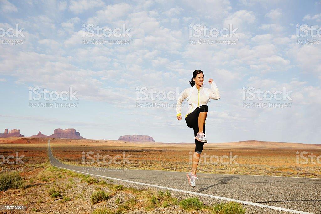 Dynamic Stretching royalty-free stock photo