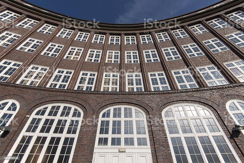 Dynamische Hausfassade stock photo
