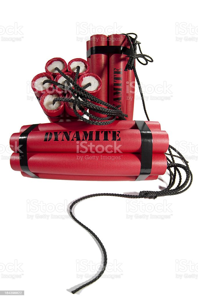 dynamite bundles royalty-free stock photo