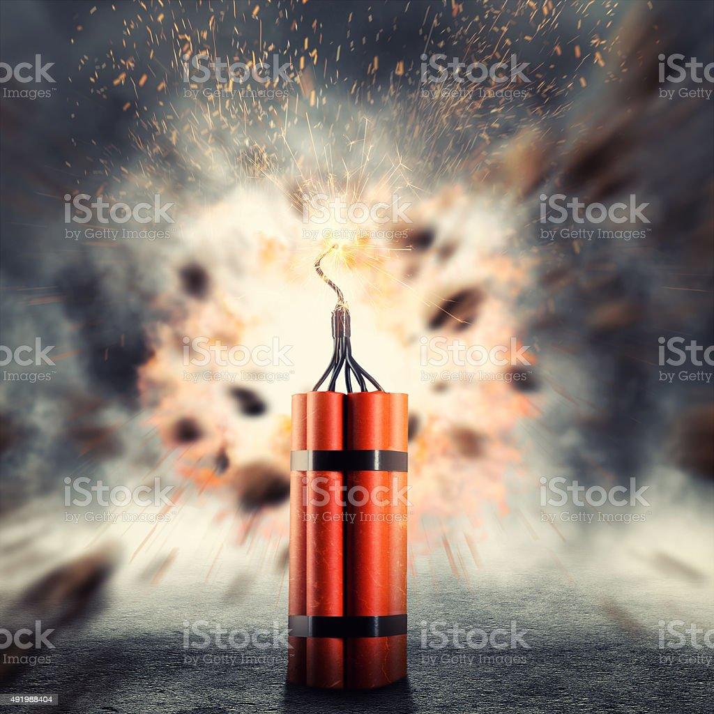 Dynamite exploding stock photo