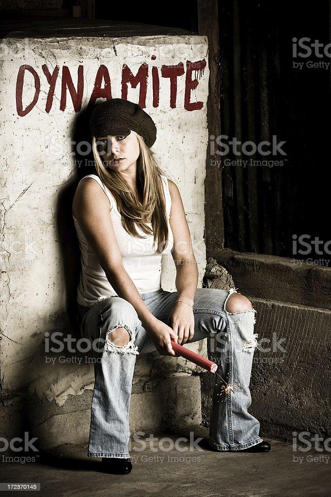 Dynamite Girl stock photo