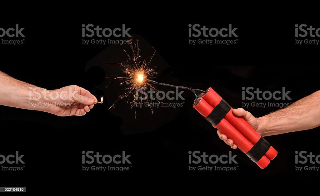 Dynamite on. stock photo