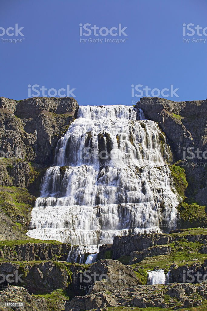 Dynjandi waterfall in the Westfjords. Iceland. royalty-free stock photo