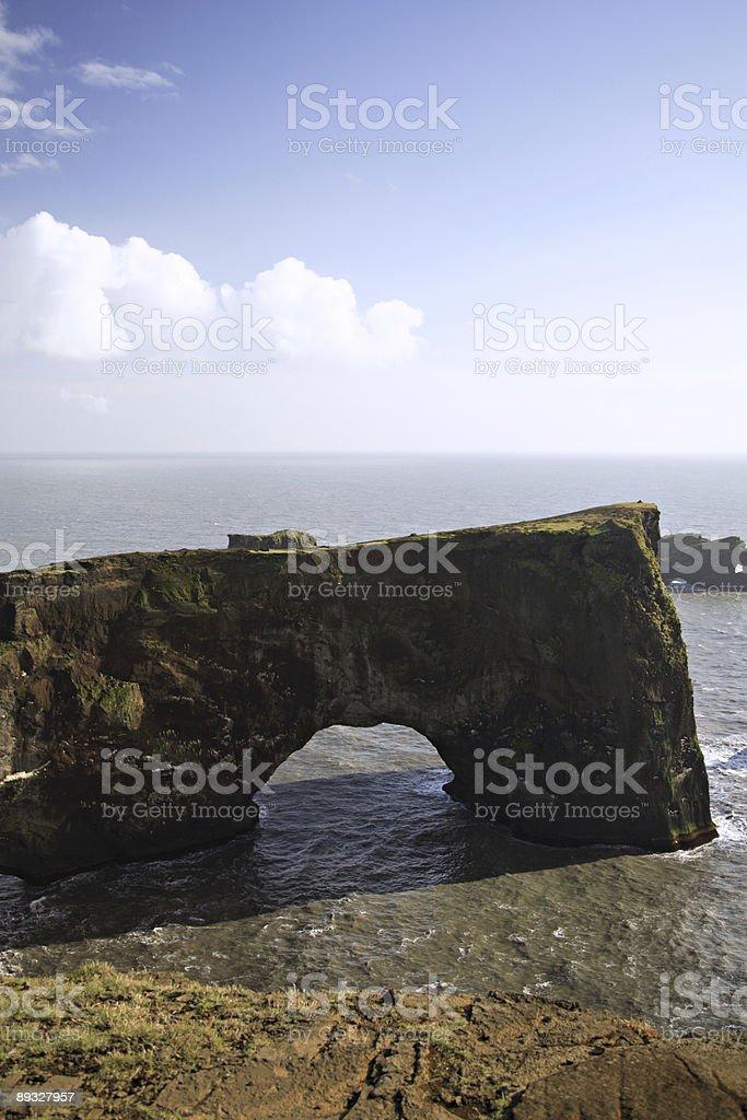 Dyrholaey archway royalty-free stock photo