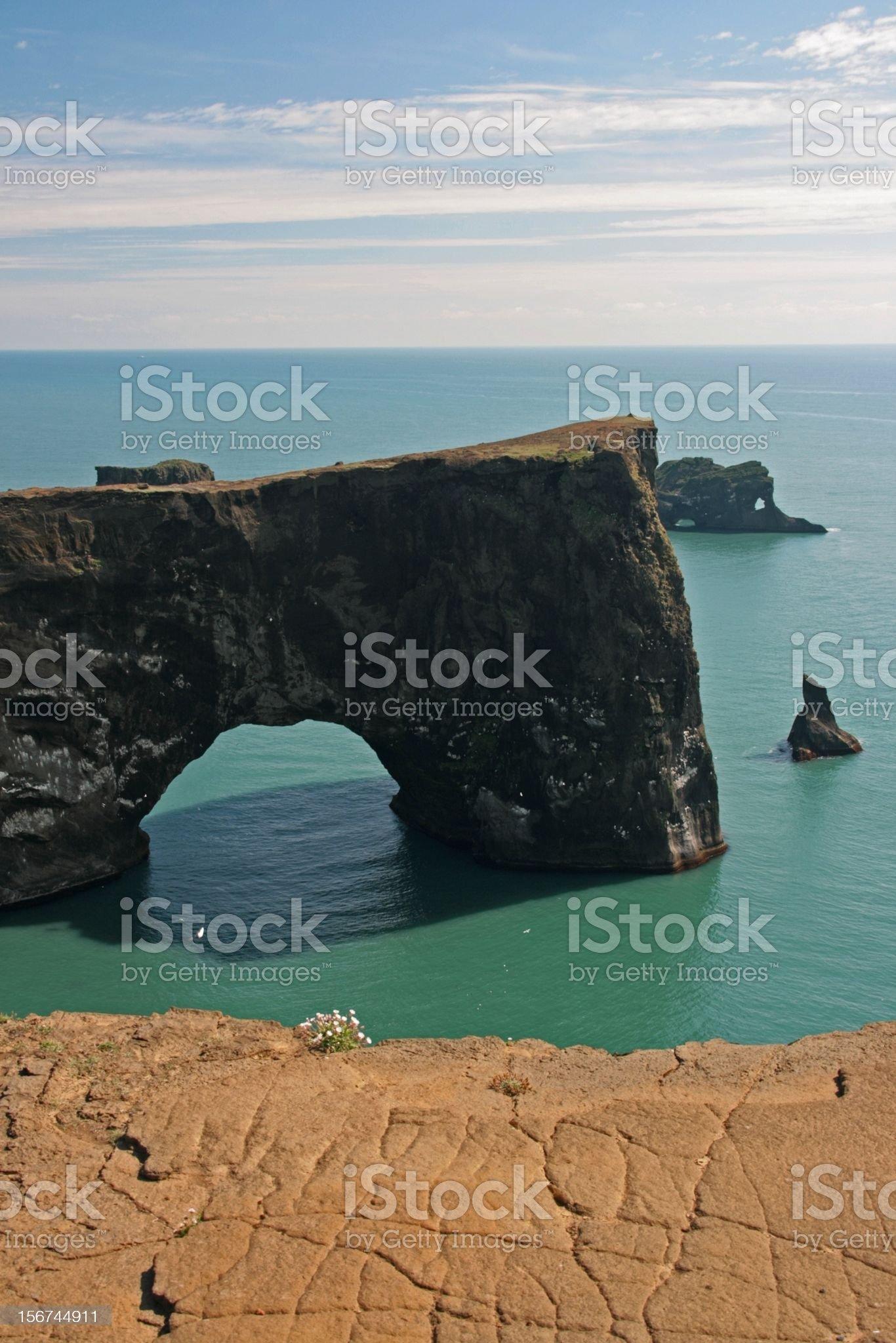 Dyrholaey - Island royalty-free stock photo