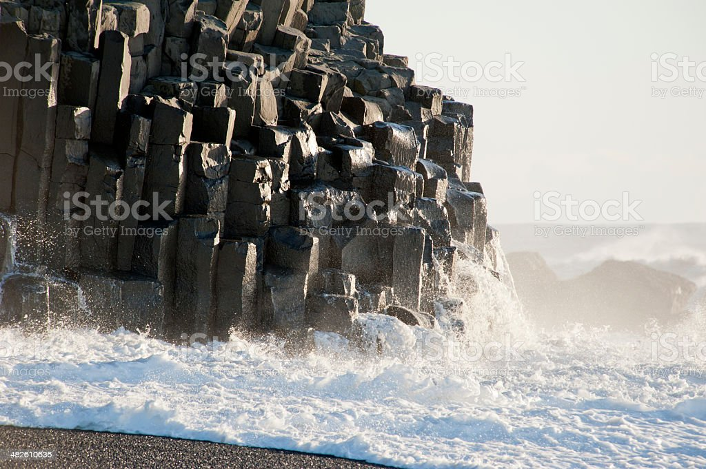 Dyrholaey, near of Vik, Iceland, Northern Europe stock photo
