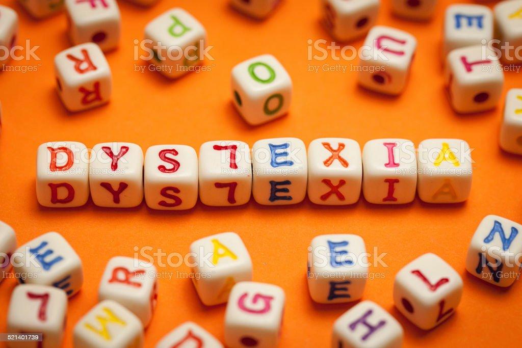 Dyslexia stock photo