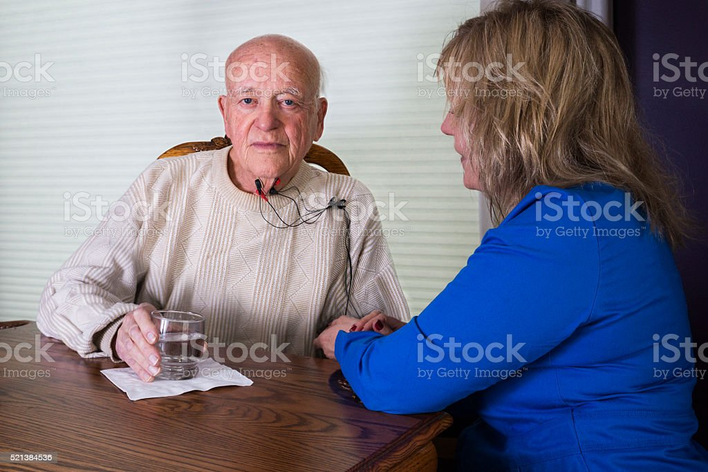 Dysphagia therapy stock photo