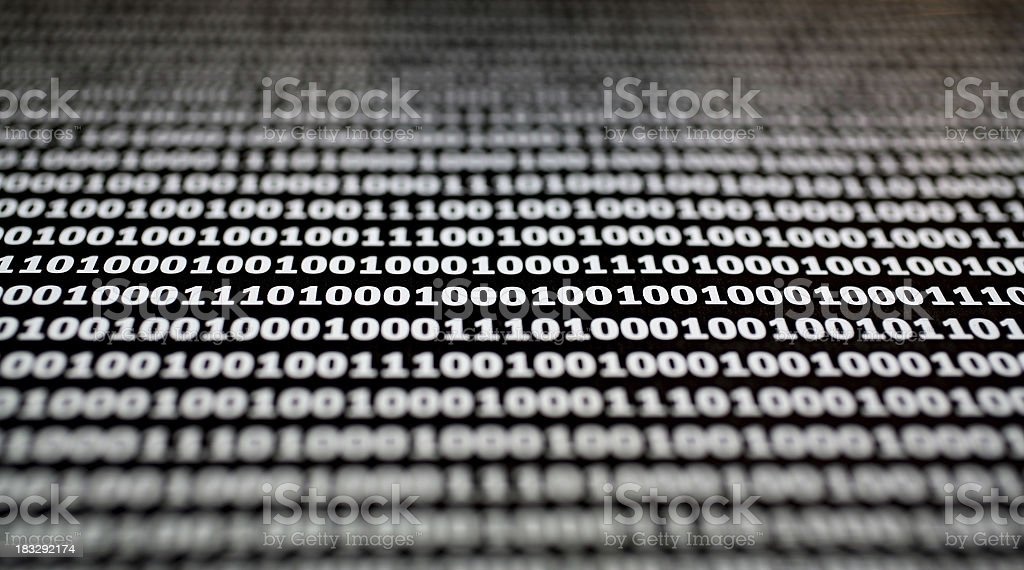 Dystortia: Binary Macro royalty-free stock photo
