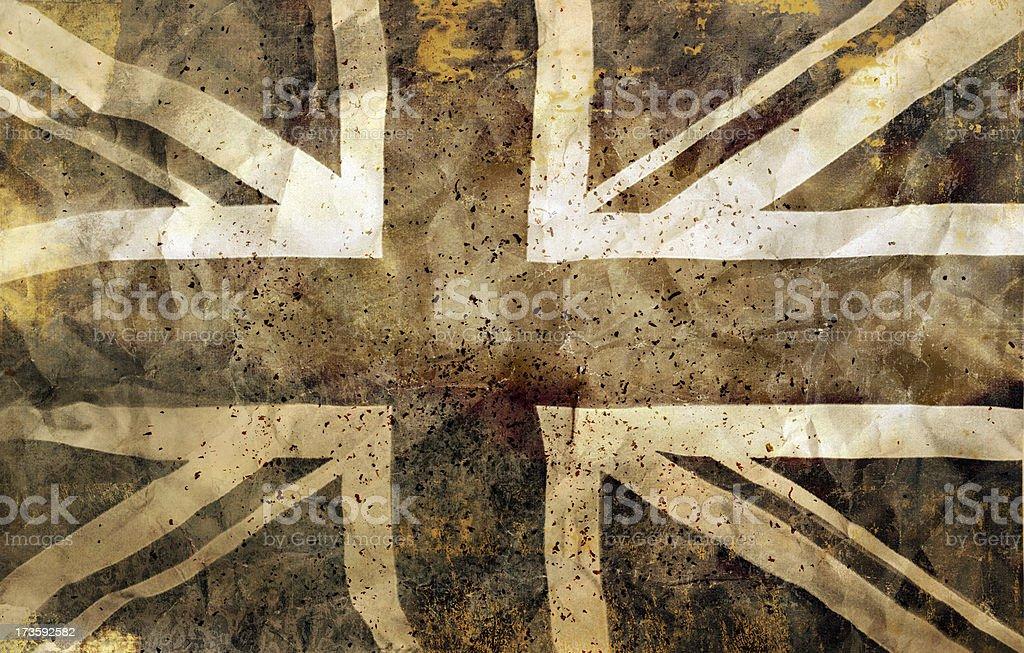 Dystortia: British (UK) Flag royalty-free stock photo