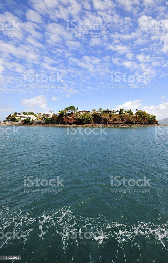Dzaoudzi, Mayotte: seen from the Ocean stock photo